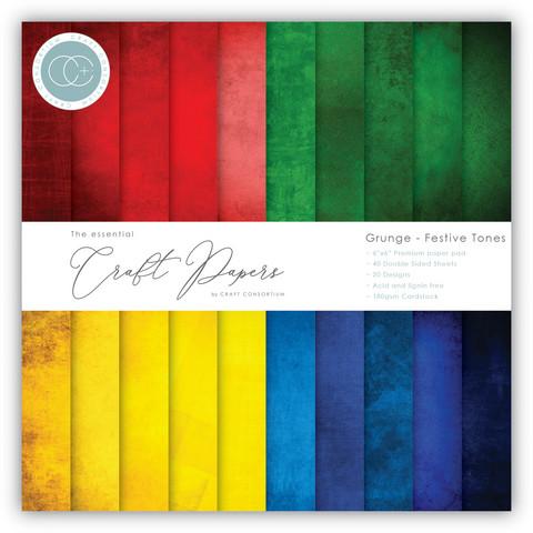Craft Consortium Grunge Festive Tones -paperipakkaus