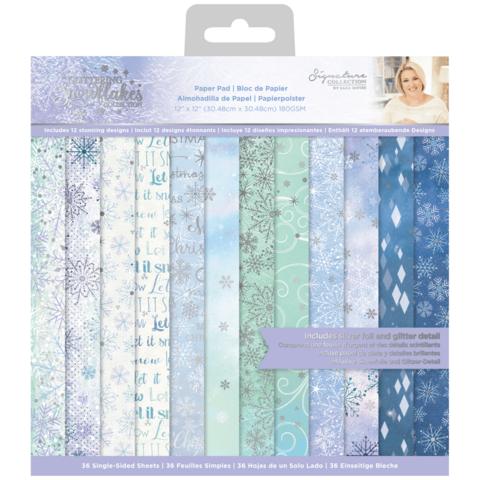 Sara Signature Glittering Snowflakes -paperipakkaus, 12