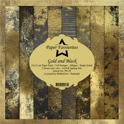 Paper Favourites Gold and Black -paperipakkaus
