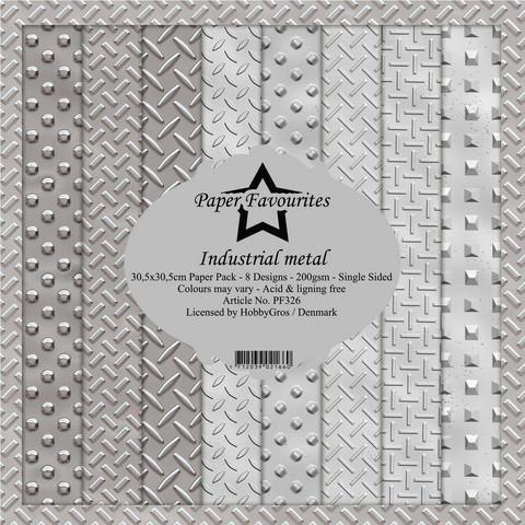 Dixi Craft Industrial Metal -paperipakkaus, 12