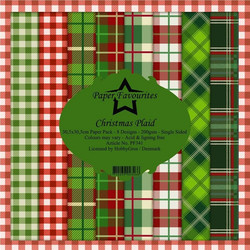 Dixi Craft Christmas Plaid -paperipakkaus, 12