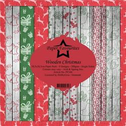 Paper Favourites Wooden Christmas -paperipakkaus, 12