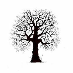 Lavinia Stamps leimasin Oak Tree