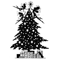 Lavinia Stamps leimasin Christmas Eve