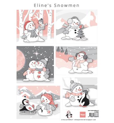 Marianne Design korttikuvat Eline's Snowmen