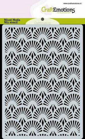 CraftEmotions sapluuna Fan Art Deco, A6
