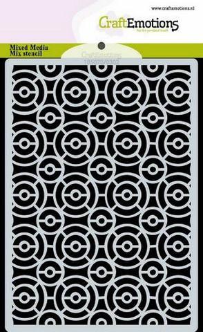 CraftEmotions sapluuna Circles Art Deco, A6