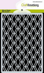 CraftEmotions sapluuna Diamond Facet Art Deco, A6