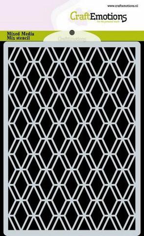 CraftEmotions sapluuna Diamond Facet Art Deco, A6