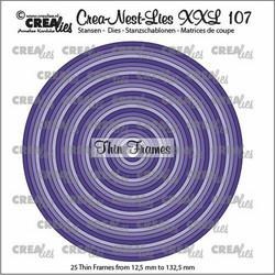 Crealies XXL107 -stanssisetti Thin Frames, Circles