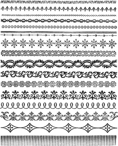 Stampers Anonymous, Tim Holtz leimasinsetti Ornate Trims