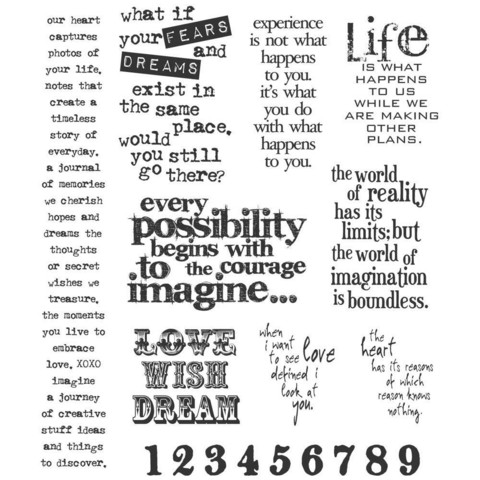Stampers Anonymous, Tim Holtz leimasinsetti Stuff 2 Say