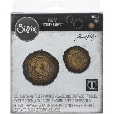 Sizzix Bigz stanssi Mini Tree Rings + kohokuviointikansio