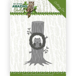 Amy Design Amazing Owls stanssisetti Owl In Tree