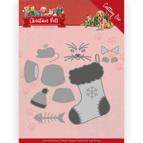 Amy Design Christmas Pets stanssisetti Christmas Cat