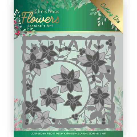 Jeanines Art Christmas Flowers stanssisetti Poinsettia Frame