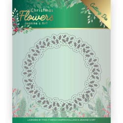 Jeanines Art Christmas Flowers stanssisetti Holly Christmas Wreath