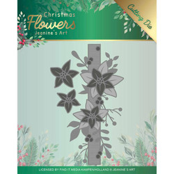 Jeanines Art Christmas Flowers stanssisetti Poinsettia Border