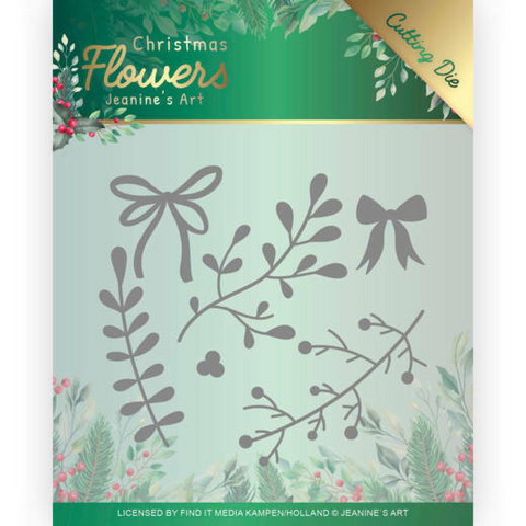 Jeanines Art Christmas Flowers stanssisetti Mistletoe