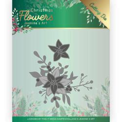 Jeanines Art Christmas Flowers stanssisetti Poinsettia Corner