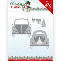 Yvonne Creations Christmas Village stanssisetti Christmas Car