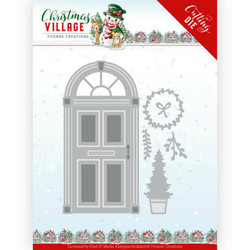 Yvonne Creations Christmas Village stanssisetti Christmas Door