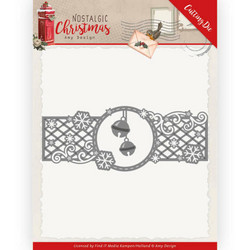 Amy Design Nostalgic Christmas stanssi Christmas Bells Border