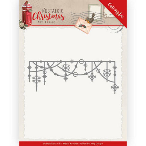 Amy Design Nostalgic Christmas stanssi Hanging Snowflakes