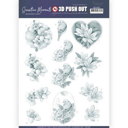 Jeanine's Art Sensitive Moments 3D-kuvat Grey Rose