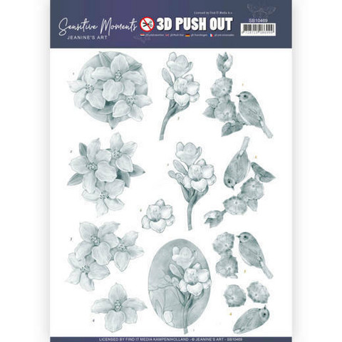 Jeanine's Art Sensitive Moments 3D-kuvat Grey Freesias