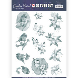 Jeanine's Art Sensitive Moments 3D-kuvat Grey Lily