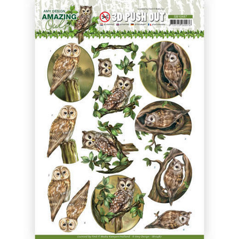 Amy Design Amazing Owls 3D-kuvat Forest Owls