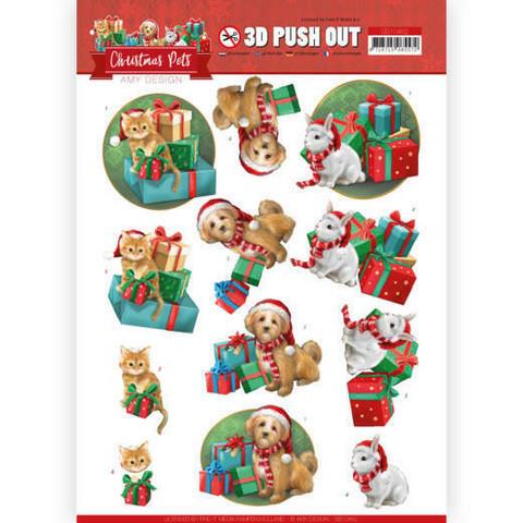 Amy Design Christmas Pets 3D-kuvat Presents
