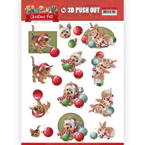 Amy Design Christmas Pets 3D-kuvat Christmas Balls