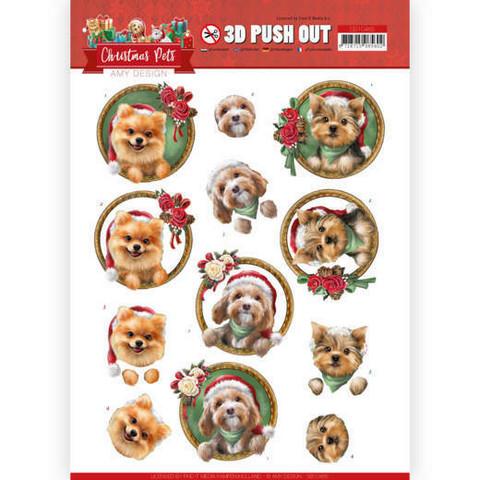 Amy Design Christmas Pets 3D-kuvat Christmas Dogs