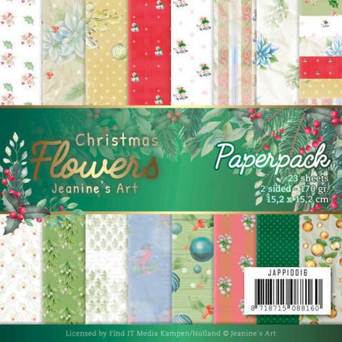 Jeanines Art paperipakkaus Christmas Flowers