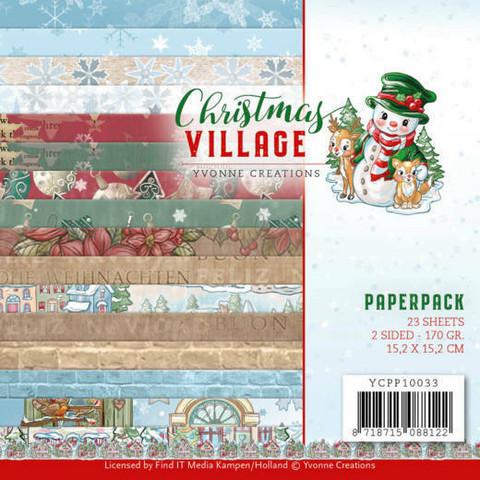 Yvonne Creations paperipakkaus Christmas Village