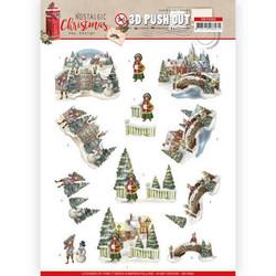 Amy Design Nostalgic Christmas 3D-kuvat Christmas Village