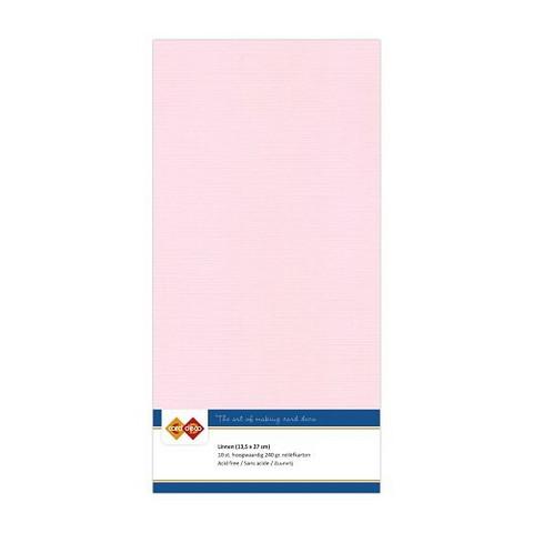 Card Deco kartonkipakkaus, 13.5 x 27 cm, Light Pink, 10 kpl