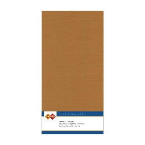Card Deco kartonkipakkaus, 13.5 x 27 cm, Coffee Brown, 10 kpl
