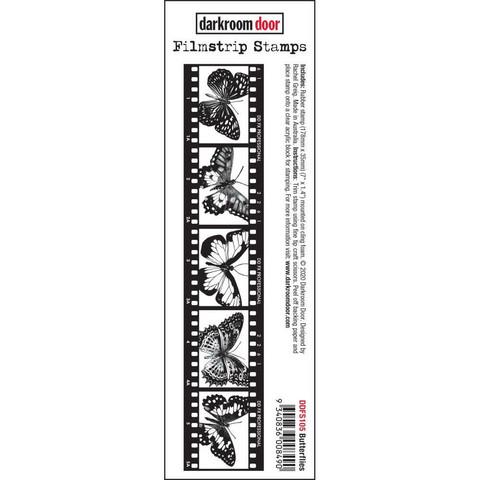 Darkroom Door Filmstrip leimasin Butterflies
