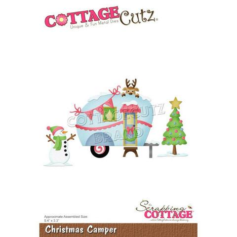 CottageCutz stanssi Christmas Camper