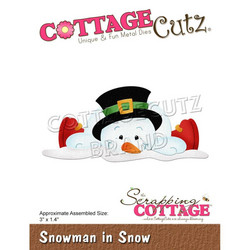 CottageCutz stanssi Snowman In Snow