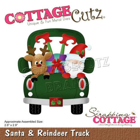 CottageCutz stanssi Santa & Reindeer Truck