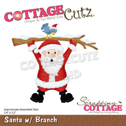 CottageCutz stanssi Santa with Branch