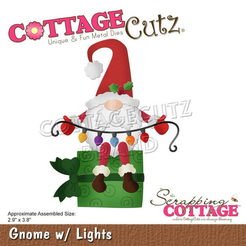 CottageCutz stanssi Gnome with Lights