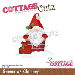CottageCutz stanssi Gnome with Chimney