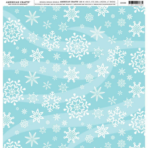 American Crafts Holidays & Events skräppipaperi Large Snowflakes