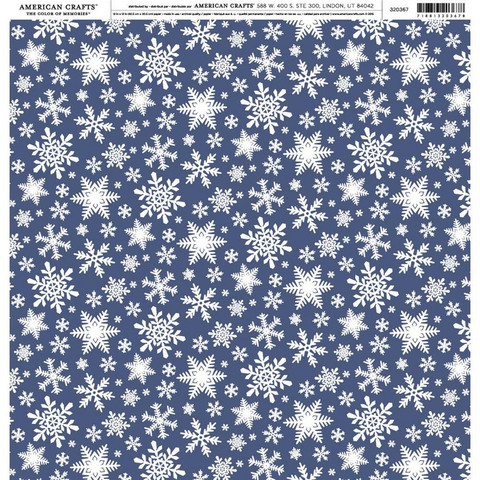 American Crafts Holidays & Events skräppipaperi Snowflakes