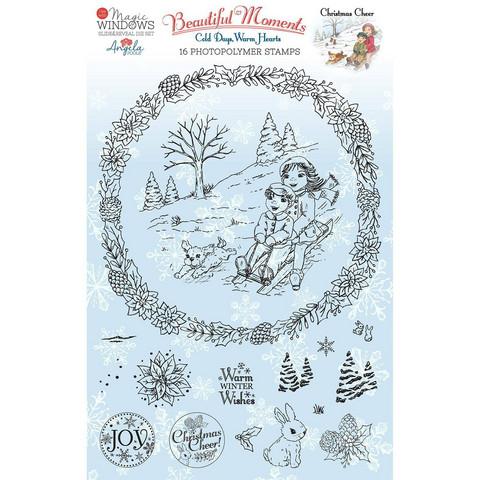 Angela Poole A5 leimasinsetti Christmas Cheer